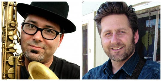Musicians Chad Elliott and Heath Alan will perform Oct. 5 at the Forest Avenue Library to cap off DMPL's yearlong blues series.