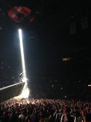 Kanye West performs at the Palace of Auburn Hills during the Yeezus tour.