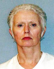 This undated file photo provided by the U.S. Marshals Service shows Catherine Greig, longtime girlfriend of Whitey Bulger, captured with Bulger in 2011 in Santa Monica, Calif.