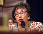 Appropriations Chairwoman Nita Lowey, D-N.Y., shown, along with Budget Chairman John Yarmuth, D-Ky., want information about when the White House issued the decision to withhold almost $400 million in aid to Ukraine and the policy reasons – if any – for the move.