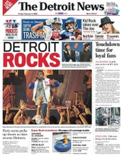 The Feb. 3, 2006 front page of The Detroit News.