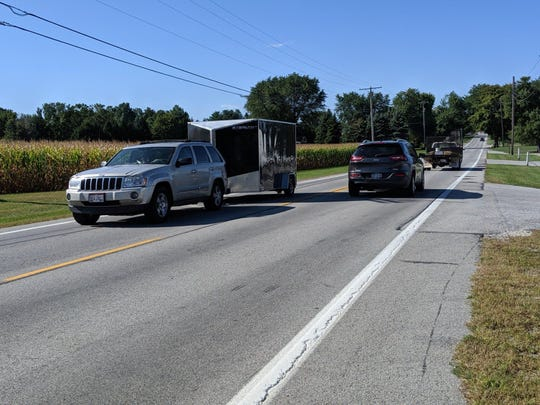 Traffic heads east and westbound on U.S. 6 Friday through Sandusky County's safety corridor.