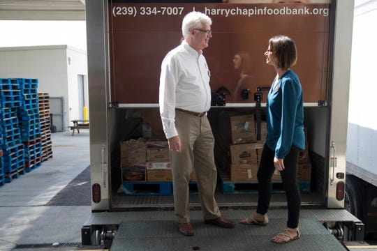Richard LeBer, the president & CEO of Harry Chapin Food Bank and Lauren Couchois the Food and Nutrition Services director for the Lee County School District have worked together to start a program where schools can donate unused food to the food bank to prevent waste.