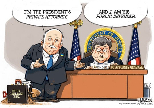 Rudy G. and Bill Barr on Ukraine.