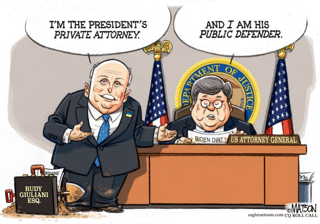 Rudy G. and Bill Barr on Ukraine.