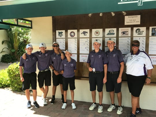 Cypress Lake's boys golf team captured the first LCAC championship under head coach Maureen Cannon in her 20 years at the helm of the Panthers at Lexington Country Club Friday afternoon.