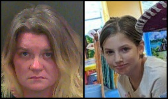 Amanda Carmack, left, is accused of killing her stepdaughter, Skylea Carmack, right.