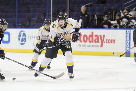 Before he became Mississippi State's starting punter, Tucker Day was an amateur hockey player for the Nashville Junior Predators.