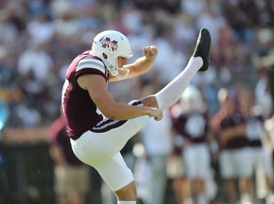 Mississippi State redshirt sophomore Tucker Day never thought he's play football. Yet here he is as the Bulldogs' starting punter in his third year with the program.