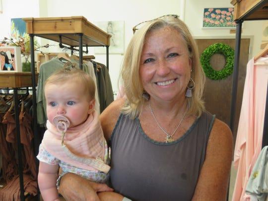 Sheree Johnson with her granddaughter, Abbi Grace Johnson.