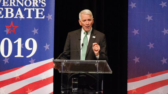 Louisiana gubernatorial candidate U.S. Rep. Ralph Abraham speaks at the governor's debate hosted by Louisiana Public Broadcasting and the Council for a Better Louisiana on the University of Louisiana at Lafayette campus Thursday, Sept. 26, 2019.