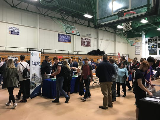 Job seekers and about 80 employers met Friday at the Ohio Means Jobs/Fairfield County Job and Family Services job fair at Ohio University Lancaster to discus