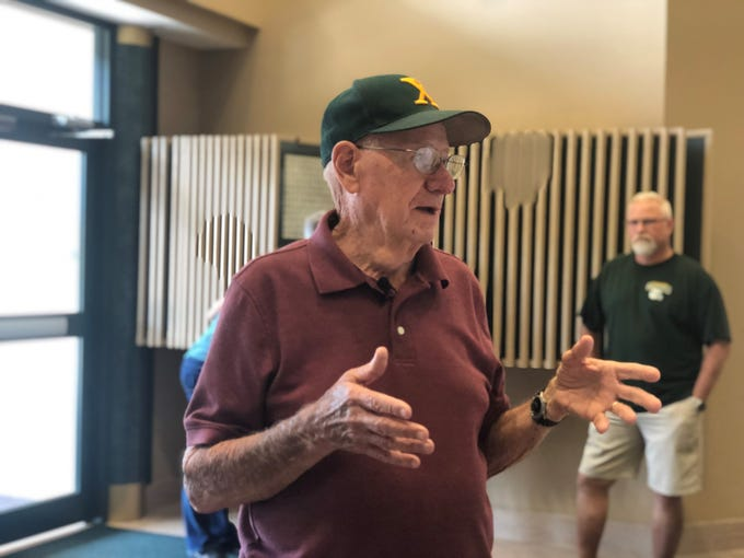 Bob Kirchner graduated from St. X high school in 1955. He lost his class ring in 1956 or '57 and never saw it again, until today. After a Louisville man with a metal detector found the ring, the 82-year-old was reunited with the nostalgia at his alma mater Friday.