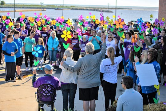 Promise Garden Ceremony at the Walk to End Alzheimer's at Manitowoc-Two Rivers YMCA Sept. 14.
