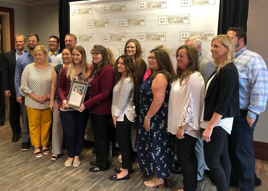 Representing Baxter Regional at the 2019 Best Places to Work in Arkansas event are members of the Senior Leadership Team and various Department Directors.