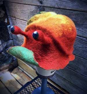 Art, such as this felt hat created by Leigh Abernathy, will be on display this weekend at the Art Fair at StoneCreek.