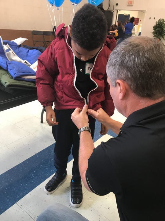 Operation Warm in partnership with Blue Cross and Blue Shield of Louisiana donated 400 coats to students at Madison James Foster Elementary in Monroe on Friday.