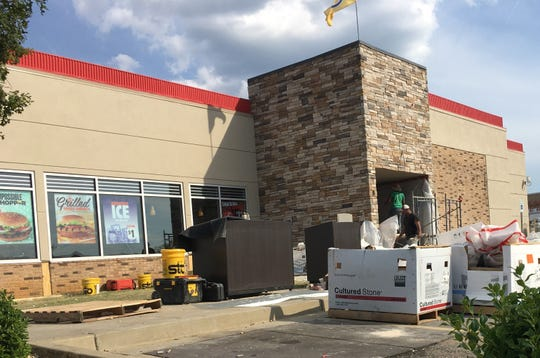The dining room is closed to guests as work continues at Burger King on East South Boulevard.