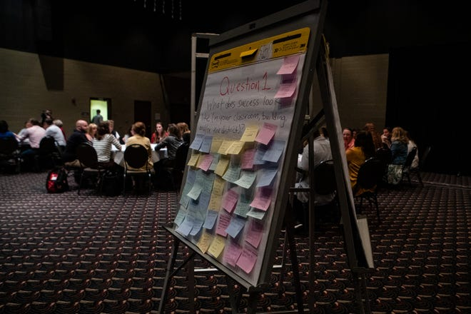 "Muncie Community Schools educators gather on Sept. 25, 2019, for a two-day ""innovation summit"" at the Horizon Convention Center."