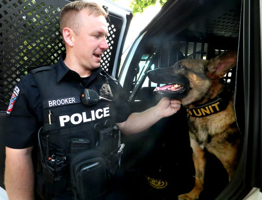 MTSU Police Officer Zachery Brooker has been partnered with K9 Bobby, the department's first K9 officer.