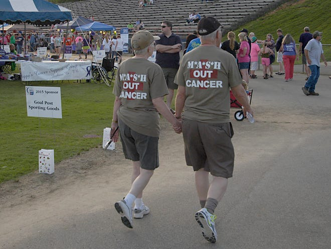 An image from the 2015 Dickson County Relay for Life at the Dickson County High School football stadium.