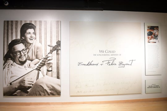 Artifacts seen during the grand opening of We Could: The Songwriting Artistry of Boudleaux and Felice Bryant at Country Music Hall of Fame and Museum on September 26, 2019 in Nashville, Tennessee. (Photo by Jason Kempin/Getty Images for Country Music Hall of Fame and Museum)