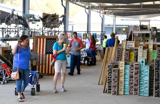 The Nashville Flea Market opened in its new space Friday morning in the new $37.5 millionExpo Center
