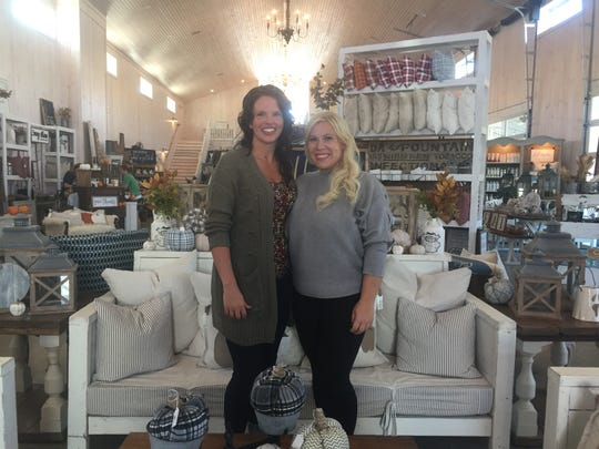 Ivory Barn co-owners Corie Cook and Samantha Sasfy on opening night of their new business, Sept. 26.