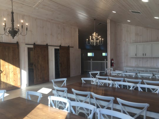 The Ivory Barn's loft includes a social and meeting area available for rent.