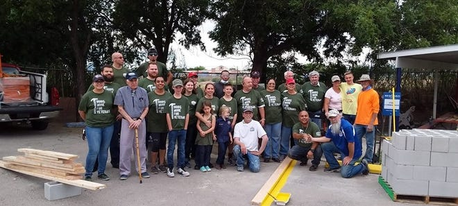 The Las Cruces Home Depot teamed up with VFW Post 10124 to accomplish some much-needed renovation of the Post home located at 709 South Valley Drive earlier this month.