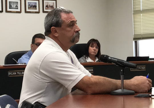 Otero County Emergency Manager Paul Quairoli talks to the Otero County Commission at their regular meeting Sept. 26, 2019.