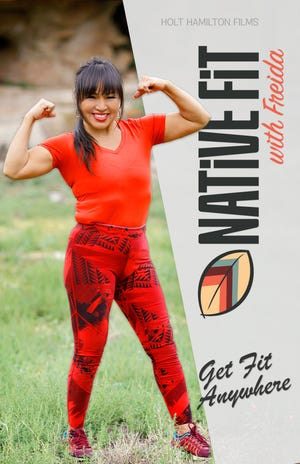 """The poster for """"Native Fit with Freida,"""" a new fitness series shot on the Navajo Nation."""