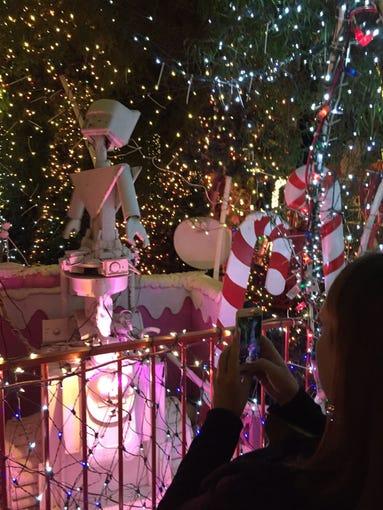 Scenes from artist Kenny Irwin Jr.'s Robolights 2018 display in Palm Springs.
