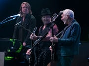 Peter Frampton jams with his band during his Finale - The Farewell Tour at Comerica Theatre in Phoenix on Sept. 26, 2019.