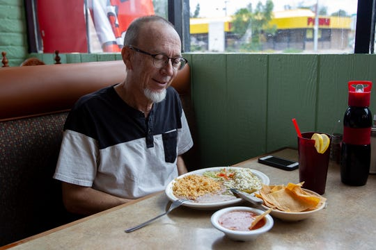 Steven Snow, a longtime customer at Restaurant Mexico, was eager to visit Mr. Pancho Mexican Food for the first time, September 25, 2019.