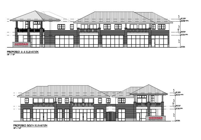 A two-story mixed-use development, which include offices for Sheridan Real Estate and Insurance, other commercial space and lofts, is proposed for 805 Pine Grove Ave.