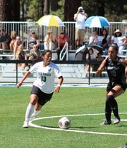 Angie Hurtado (13) is a sophomore on the Lake Tahoe CC women's soccer team, ranked No. 1 in the nation.