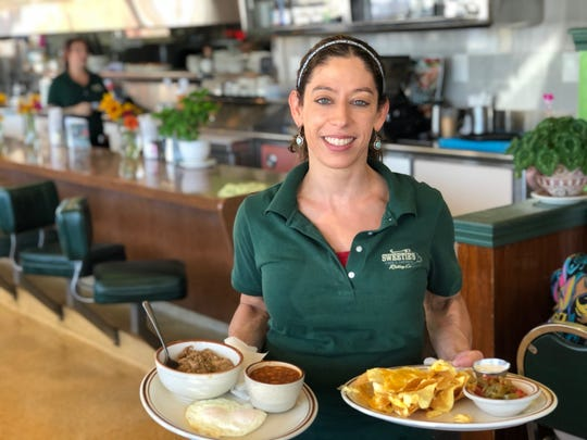 Owner Tiferet Carbajal at Sweetie's Cafe and Catering on South Market Street in Redding.
