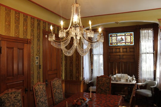 The dining room of the Gillis-Grier Home seeps with Victorian era decor