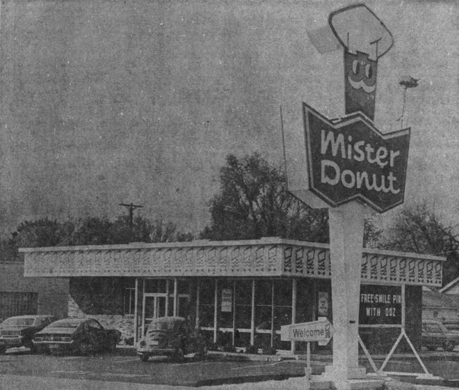 Mister Donut in Sioux Falls in 1971.