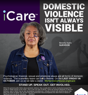 iCare is a month-long awareness and fundraising campaign to support Harmony House and stop domestic violence.