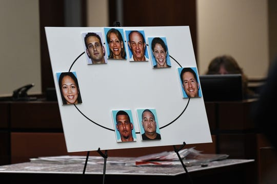A diagram showing Dan Markel, the Florida State law professor who was shot and killed in 2014, right, his ex-wife Wendi Adelson, her parents and brother, to Katherine Magbanua, who dated Adelson's brother,  which then connects her to Sigfredo Garcia, who also had a relationship with Magbanua and finally Luis Rivera.