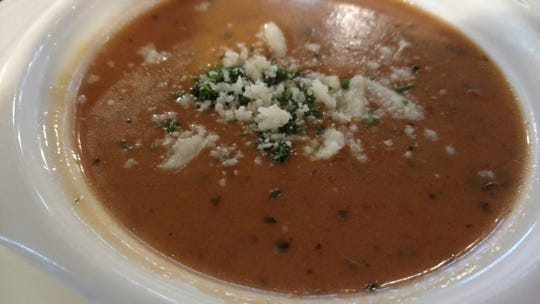 The Italian Cousin's tomato basil bisque is served nice and warm and is deliciously seasoned.