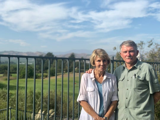 Gail and Jerry Schrum's Camarillo backyard overlooks Sterling Hills golf course. The couple purchased the home in 2011 and opposes owner John Zaruka's plan to develop homes on part of the course.