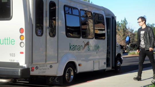 The Kanan Shuttle makes a stop in Oak Park in this 2014 file photo.