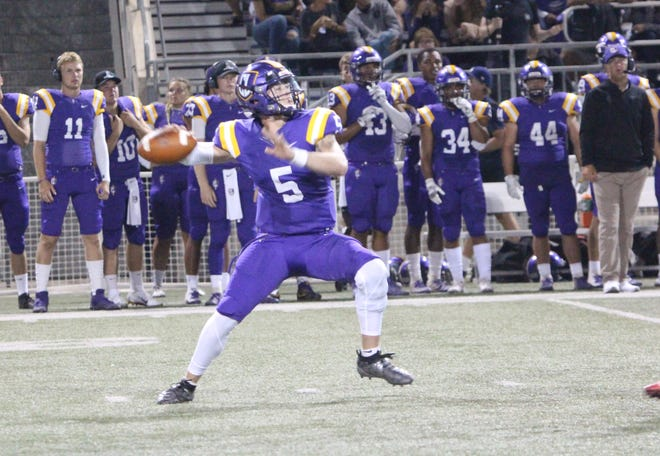 CLU senior Cesar De Leon completed 28 of 42 passes for 354 yards and three touchdowns to three different receivers in Saturday afternoon's 29-21 loss to visiting Wisconsin-Stout.