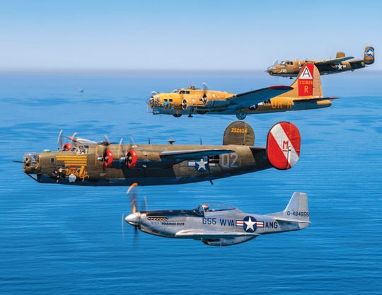 Aircraft from the WWII Wings of Freedom Tour. The tour comes to Westchester County Airport for tours, rides Oct. 3-6, 2019.