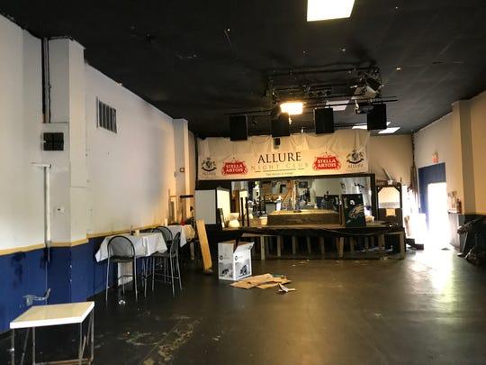Allure Nightclub equipment being broken down after being shut down.