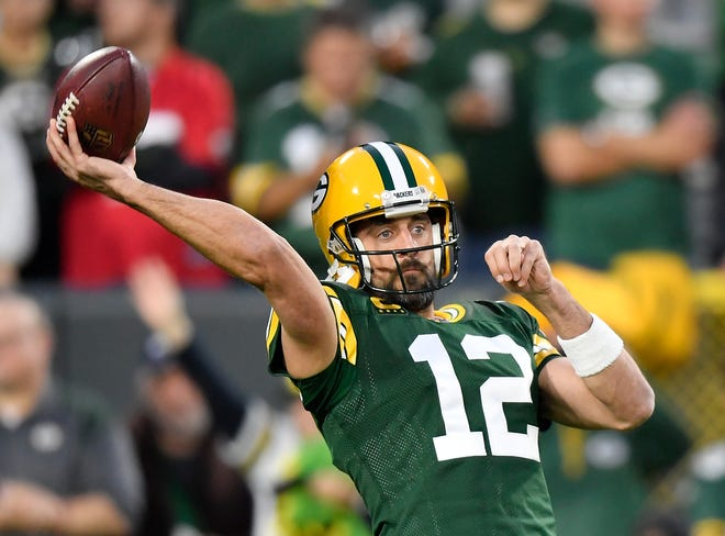 Aaron Rodgers and the Green Bay Packers face the San Francisco 49ers in a rematch of last season's NFC championship game on Thursday night.