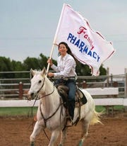 Maegan Lacy isn't just a standout volleyball player for the Rider Lady Raiders. She's also a competitive barrel racer.